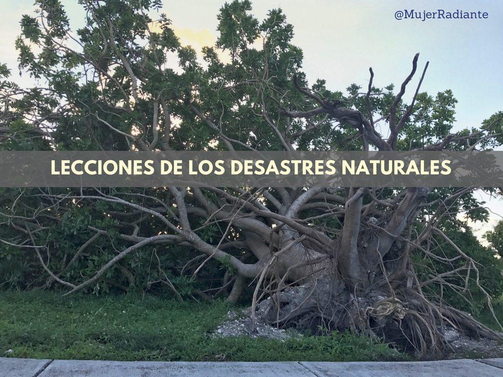 Lecciones de los Desastres Naturales